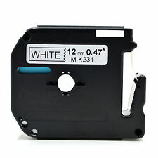 10 Compatible MK231 MK-231 12mm x 8m BLACK/WHITE Label Tape for Brother P-touch