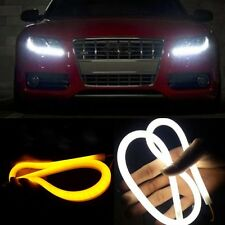 2x 60cm Switchback Headlight LED Turn Signal Daytime Light For Audi-Style Tube