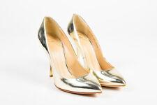 Giuseppe Zanotti Gold Metallic Leather Pointed Toe Pumps SZ 38.5