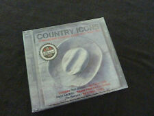 COUNTRY ICONS ULTRA RARE SEALED CD! DON GIBSON SKEETER DAVIS BUCK OWENS
