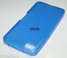 TPU Soft Gel Case For Blackberry Z10 (Blue)