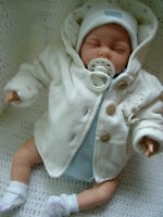 REBORN DOLL BABY BOY PAINTED HAIR MADE TO ORDER CHILD FRIENDLY REBORN DOLL !!!