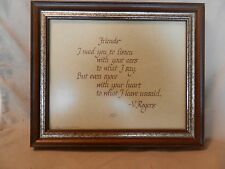 Friends I need you to listen -- Creative Calligraphy Framed Print from 1981