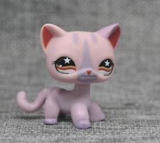 Rare Littlest Pet Shop Light Purple Siamese Short Hair Kitty Cat LPS #933