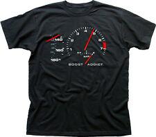 944 PORSCHE 911 TURBO BOOST ADDICT Targa Auto Corsa Nero T-shirt di Cotone co -