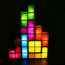 Newest Tetris LED Light Desk Bed Lamp Retro Game Style Stackable Magic Gift