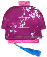 Chinese Jacket Silk Purse - Flowers - Chinese Silk Coin Purse