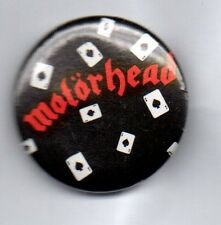 MOTORHEAD ACE OF SPADES BUTTON BADGE -ENGLISH CLASSIC ROCK METAL BAND LEMMY 25mm