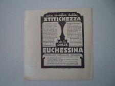 advertising Pubblicità 1938 DOLCE EUCHESSINA - ANTONETTO TORINO
