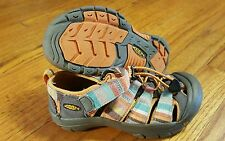 Keen Girl's Orange Stripe Waterproof Sport Sandals Water Shoes, Youth Size 1