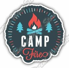 Camp Fire Camping Adventure National Park Car Bumper Vinyl Sticker Decal 4.6""