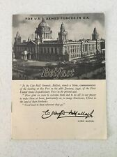 WWII US ARMED FORCES IN UK Travel Booklet BELFAST