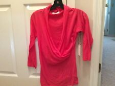 Velvet by Graham and Spencer pink wrap top NWT size small