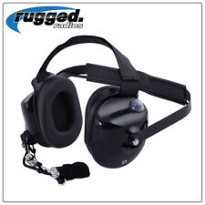 Rugged Radios BTH Black Headset - NASCAR Electronic Racing Communication