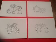 8 x LOVE / VALENTINE Penny Black stamped images **FREE POSTAGE**
