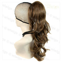Long Wavy Light Brown Ponytail Claw Clip in Hair Piece Extension Pony tail UK