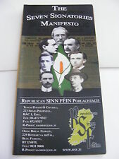 THE SEVEN SIGNATORIES MANIFESTO Irish Republican Sinn Fein Poblachtach Ireland