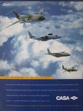 1998 PUB CASA CN-235 C-212 C-295 FLA AIRBUS A400M MILITARY TRANSPORT ORIGINAL AD