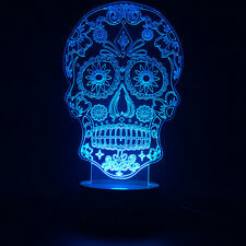 3D Design Gothic Bulbing Lamp Day of the Dead Sugar Skull Lamp Holloween Lamp