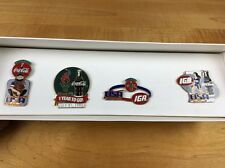 COCA-COLA USA SOFTBALL PIN SET 4 COKE IGA 1996 Olympics 1 Year To Go