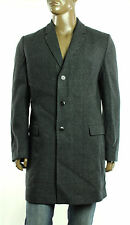 New Mens Hugo Boss Migor2 Virgin Wool Blend Charcoal Plaid Over Coat 44 R