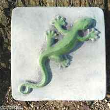 Plaster Concrete Plastic Lizard Mold on base SEE more lizard molds in my store