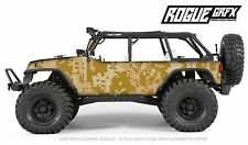 Axial SCX10 Rubicon or CRC Edition Body Graphic Wrap Skin- Desert Camo