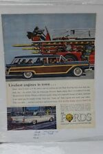 "Vtg Automobile Advertisement 11 X 14"" 1959 Ford Galaxie Club Victoria  (A85)"