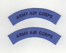 ARMY AIR CORPS CLOTH SHOULDER TITLES SOLD PER PAIR - NEW