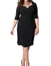 PLUS SIZE L - 3XL Party Evening Gown V neck Dress Plus Size Women Lady Dresses