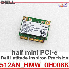 Wi-Fi WLAN WIRELESS CARD NETZWERKKARTE DELL MINI PCI-E 512AN_HMW 0H006K 5100 D34
