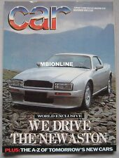 CAR 11/1988 featuring Aston Martin Virage, Renault GTA V6 Turbo, Jaguar XJR-S