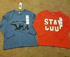 NWT Old Navy lot of 2 boys size 2T long sleeve shirts