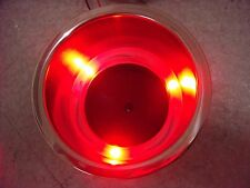 2Pcs With 3 Red LED Light Stainless Steel Recessed Boat RV Cup Drink Holder