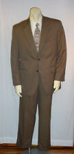 "CHAPS DARK TAN SUIT 40R PANTS 33""/30"" GOOD PRE-ENJOYED CONDITION AWESOME DEAL!"