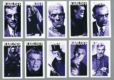 MASTER OF HORROR BORIS KARLOFF COMPLETE CARD SET