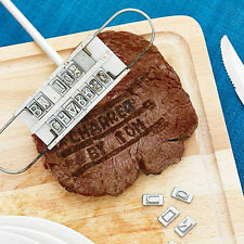Portable DIY BBQ Barbeque Meat Steak Branding Iron Letters Name Tool HU