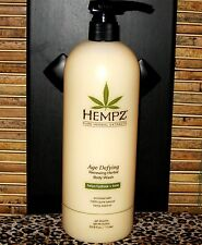 Hempz Body Wash Age Defying 33.8 oz Liter with Pump Hydrate and Tone