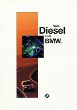 BMW Diesel Prospekt 1996 brochure Auto PKWs Deutschland Europa