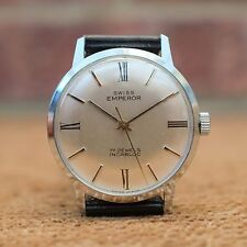 Stylish Men's Swiss Emperor Dress Watch - recently cleaned, oiled & regulated