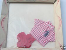 Ideal Shirley Temple Doll 1961 Play Outfit Red Checkered Horse Short Set NRFB