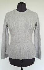 BNWT Heritage Cashmere Peplum 100% Cashmere Cable Knit Jumper