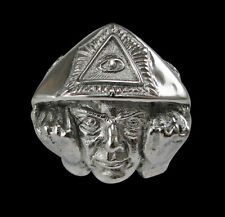 Stainless Steel Aleister Crowley Occult 666 Ring - Any Size - Free Shipping