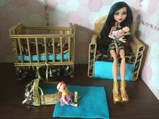 Barbie Or Monter High,baby Nursery Set furniture,crib,sofa,carrier.Cleo De Nile