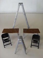 6 WWE RUMBLERS WRESTLING ACTION FIGURE ACCESSORY TLC TABLE LADDER CHAIR SET LOT+