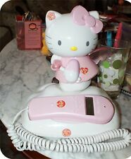 Pink Hello Kitty Angel in the Clouds Corded Telephone with Caller ID SHORTCAKE