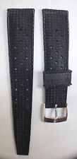 """Tropic"" Style Diver's Watch Rubber Strap, Vintage NOS 20mm, Perforated"