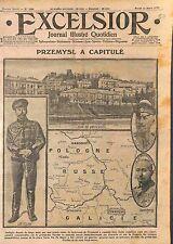 Nicolas/Nicholas II of Russia Capitulation Fortress Przemyśl Poland Map WWI 1915