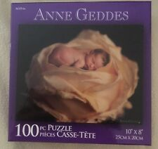 Karmin Int'l Anne Geddes 100 pc Puzzle - NEW - Baby In Middle of a Yellow Rose