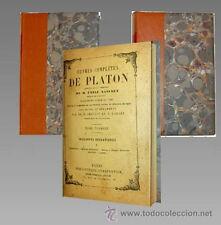 1869 - OBRAS COMPLETAS DE PLATON - 2 Tomos - en Frances